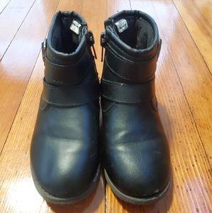 Girls black ankle booties